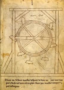 Villard waterwheel fol.5r